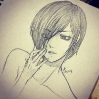 Tokyo Ghoul: Touka Pencil Sketch by itsAriecha