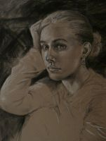 Charcoal portrait 2 by Shalladdrin