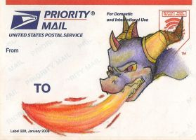 Spyro postal sticker by Moso-stuff