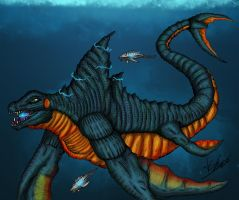 Deep sea monster Reigo color by Alex-KZG