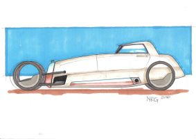 Hot Rod Side view by SCADBEEZIE