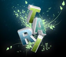 Floral 3D Text by Aeltari