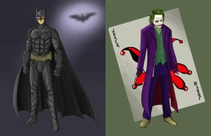 Dark Knight and The Joker by AzureChris