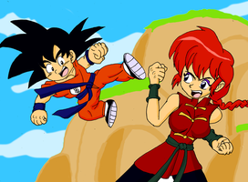 Son Goku VS Saotome Ranma by sonigoku