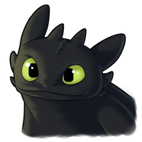 Toothless Icon - Large view by NuclearFizix