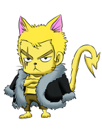 Laxus Neko by Nightokun