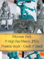 Monster Pack - Object Stock by pixiekist-stock