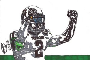 Johnny Manziel Ink Illustration 3 (White Jersey) by JColley79
