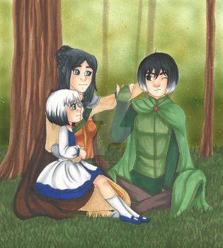 Lilika, Cassiopee, and Galatee by chelleface90