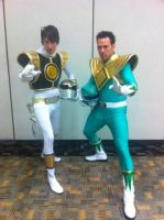 White And Green Ranger Meet by dragonlance311