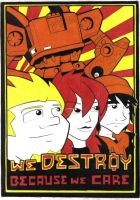 we destroy poster by prisonsuit-rabbitman
