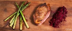 Asparagus Duck and beetroot by CJacobssonFoto