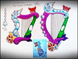 Cascading Crab Harp - Keyblade Transformation - by ExusiaSword