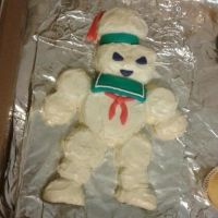 Stay Puft Marshmallow Man Cake by beatblack