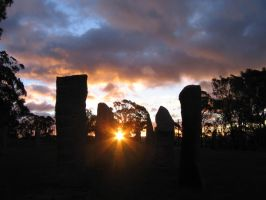 Sunset at the Standing Stones by Blackwren