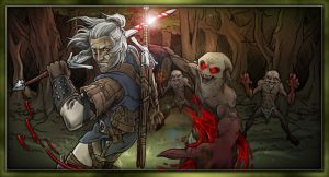 Geralt of Rivia by AIBryce