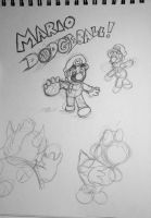 *UNFINISHED* Mario DODGEBALL! by Skettche