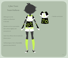 .:FC : Cyber Trace Team Uniform:. by InkHeartPaw