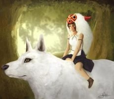 Princess Mononoke by HuskyJenny