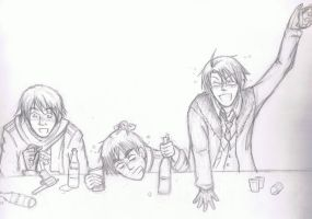 Hetalia: Allies get drunk by one-who-draws