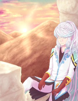 Tales of Zestiria - Resting in the ruins by nymei