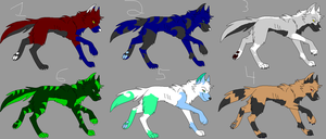 Wolf Adoptables 3 -closed- by Agony-Wolf