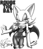 rouge the bat +manga version+ by ArchiveN