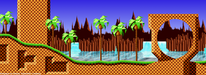 Green Hill Zone Wallpaper by Cyberblade