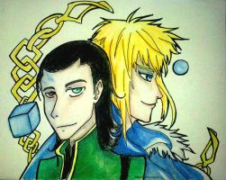 loki and jareth by owlishmystic