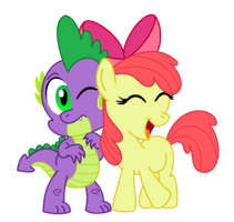Spike and Applebloom by AleximusPrime