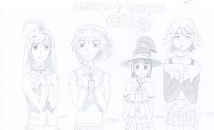 The Rosario + Vampire girls, without Ruby sorry by thereanimatedunknown