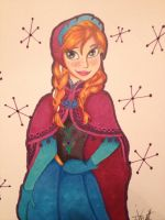 Anna in Copic 3 by DisneyDude16
