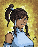 Korra the avatar by borockman