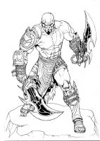 Kratos inks by RubusTheBarbarian