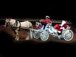 Santa w- Horse and carriage 2 by FairieGoodMother