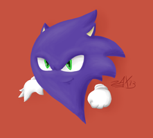 Sonic And Haunter Fusion (Saunter) - Speedpainted! by ZaxsterArt