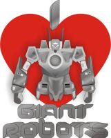 I Heart Giant Robots V.2 by Jay13x