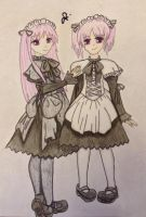 Gothic Twins by professor-mooney13