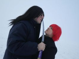 Orohimaru and Sasori cosplay by TheBonnyBB
