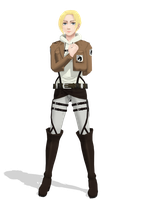[MMDxSNK] Annie Leonhardt Model DL DOWN by typhlosion4ever