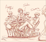Lunch of Caballeros by chacckco