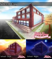 FY Background: School by MagicalSakura