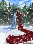 The Holly Maiden and the Northern Wind by ElyonBlackStar
