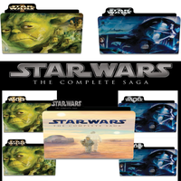 Star Wars Saga Folder Set by kingclothier