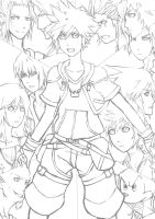 Kingdom hearts sketch by kimbolie12