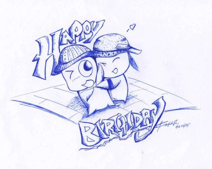 Happy Birthday Hugs by Tsoi
