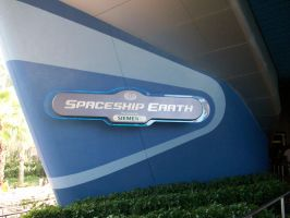 EPCOT: Spaceship Earth sign by wilterdrose-stock