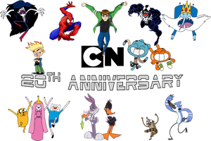 Cartoon Network 20th Anniversary Picture by DASimsTOON2012