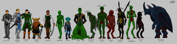 Aliens lineup 1 by joshuad17