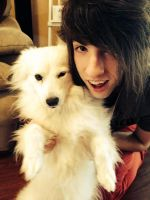 Me and mah puppy!! :3 by jordansweeto